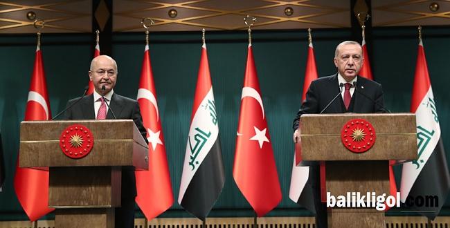 Cumhurbaşkanı Erdoğan, Irak Cumhurbaşkanı Salih'ten ortak mesaj