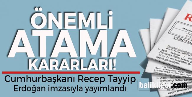 Cumhurbaşkanından 6 Önemli Atama