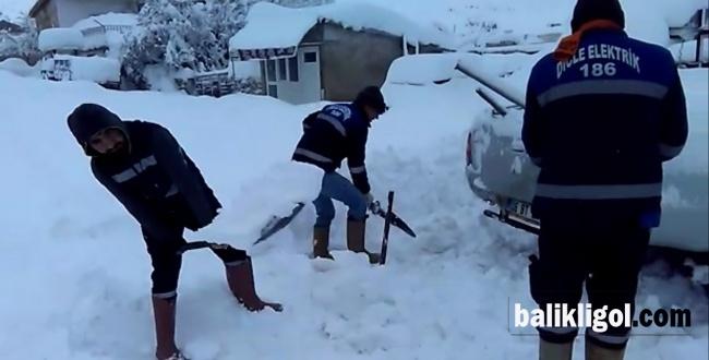 Kar Siverek'te de Etkisini Gösterdi