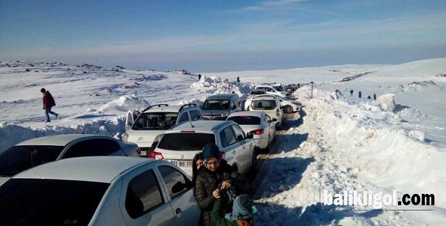 Karacadağ Kayak Merkezine Ziyaretçi Akını