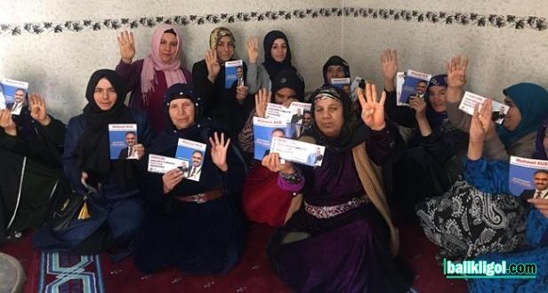 AK parti Kadınları Gece Gündüz Sahada