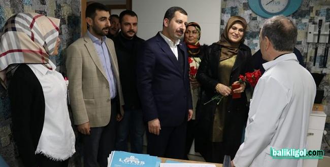 Başkan Baydilli'den Hastanelere Ziyaret