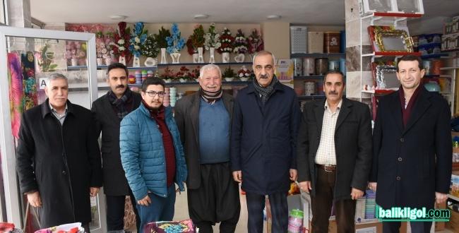 Başkan Aslan Ali Bayık Esnaf Ziyaret Etti