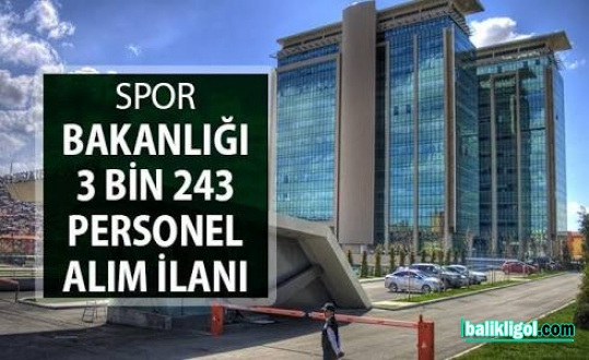 Gençlik ve Spor Bakanlığı Urfa'da 51 işçi alacak