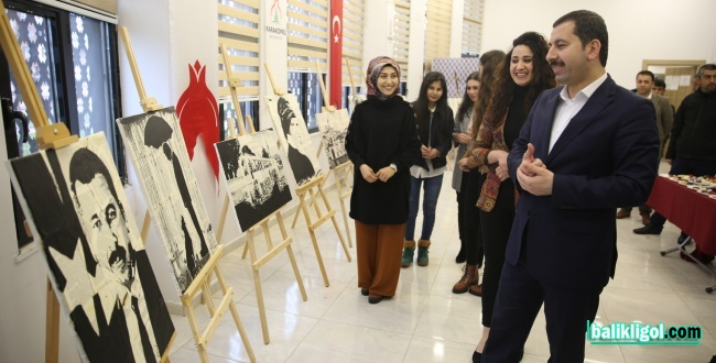 Karaköprü'de akrilik resim sergisi açıldı