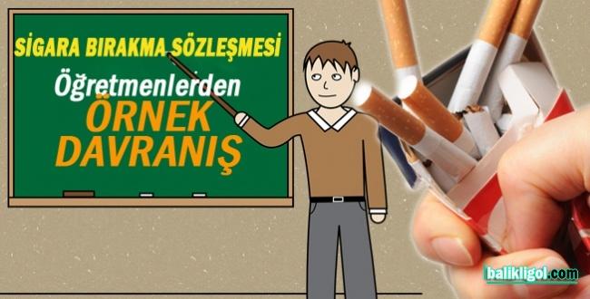 Şanlıurfa'da Öğretmenler sigara bırakma sözleşmesi imzaladılar