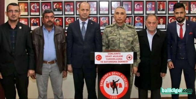 20'nci Zırhlı Tugay Komutanından Şanlıurfa Şehit Aileler Derneğine Ziyaret