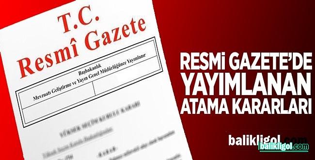 Erdoğan'dan 3 Atama, 1 Görevden Alma