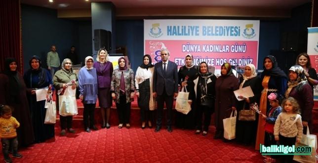 Haliliye'de Kadınlar Gününe Özel Program