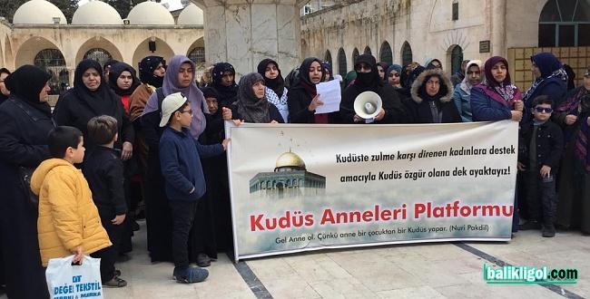 Kudüs Anneleri 62. haftadır Şanlıurfa'da Filistin için haykırıyor