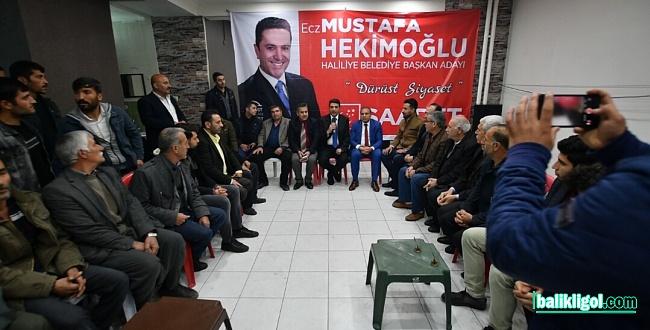 Mersavilerden SP Adayı Hekimoğlu'na destek