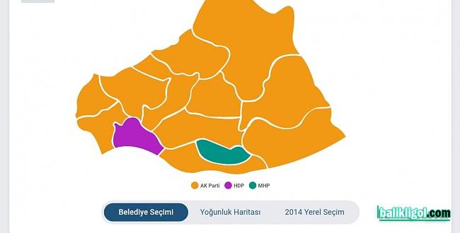 Şanlıurfa'da AK Parti sürprizi! harita sarıya Boyandı