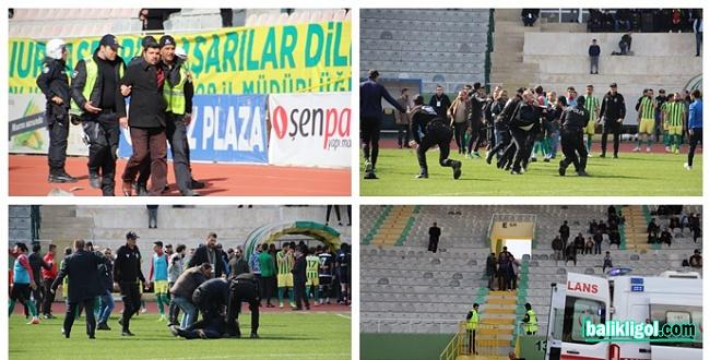 Şanlıurfaspor-Manisa maçında saha karıştı: 2 Gözaltı