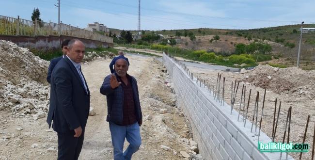 Başkan Aksoy Yapımı Devam Eden Çalışmaları İnceledi