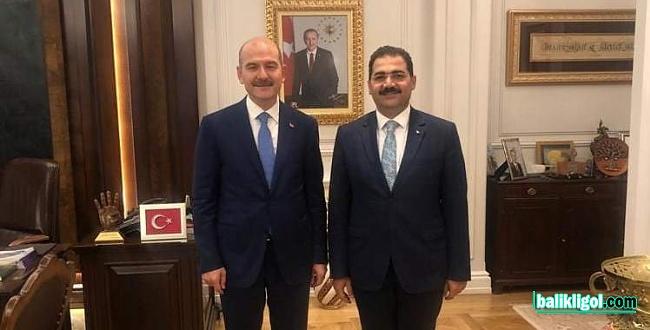 Canpolat, İçişleri Bakanı Soylu'yu ziyaret etti