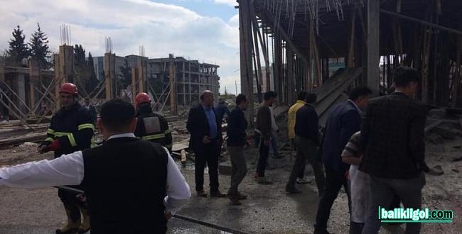 Eyyübiye'de inşaat çöktü: 1 Yaralı