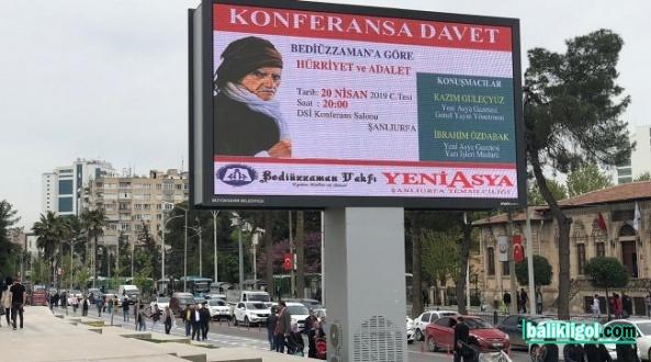 Urfa'da Bediüzzaman'a göre Hürriyet ve Adalet konferans yapılacak
