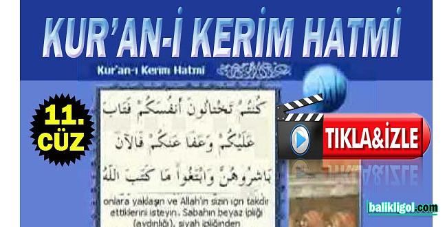 HATMI SERIF KURAN-I KERIM 11. cüz