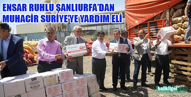 Şanlıurfa'dan Suriye'ye 8 tır yardım malzemesi daha gönderildi