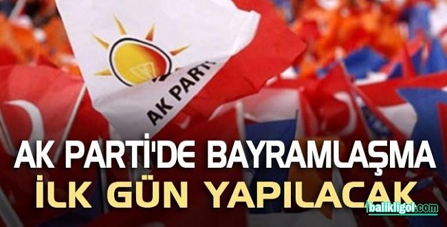 AK Parti'de Bayramlaşma Programı 1. Gün Yapılacak