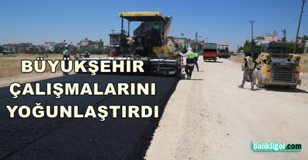 Beyazıt Bulvarı'nda asfaltlama yapılıyor