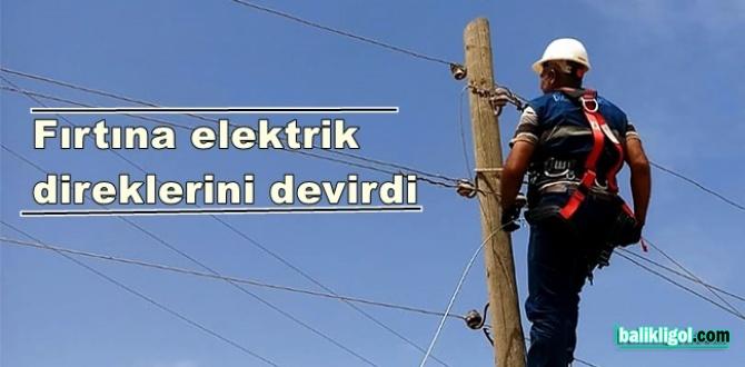 DEDAŞ'tan fırtına açıklaması: Urfa'da 150 elektirik direği devrildi