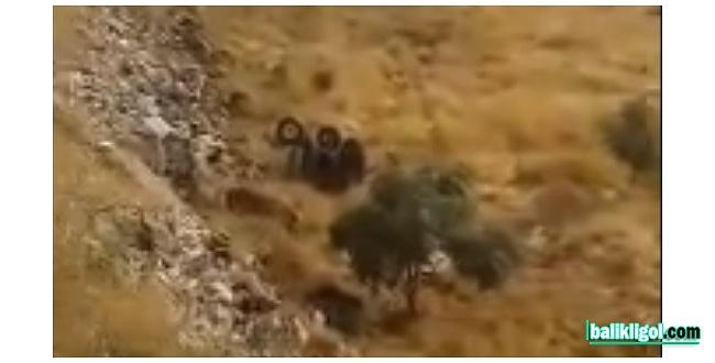 Devrilen traktörün sürücüsü feci şekilde can verdi