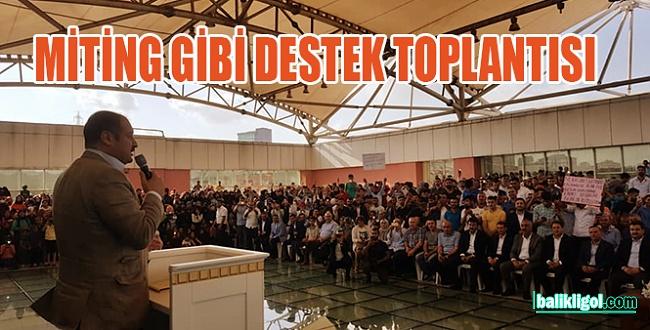 Gülpınar'ın Binali Yıldırım'a desteği mitinge dönüştü