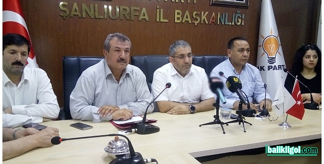 Şanlıurfa AK Parti teşkilatı, Mursi için darbecilere tepki gösterdi
