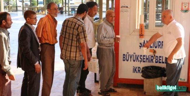 Şanlıurfa Büyükşehir'den Hasta Yakınlarına Çorba İkramı