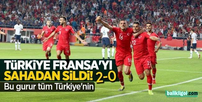 Türkiye Fransa maç özeti-TÜRKİYE 2-0 FRANSA