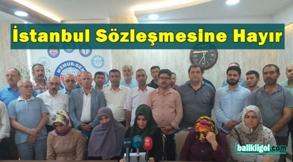 Urfa STK'ları Ayaklandı: İstanbul Sözleşmesine Hayır