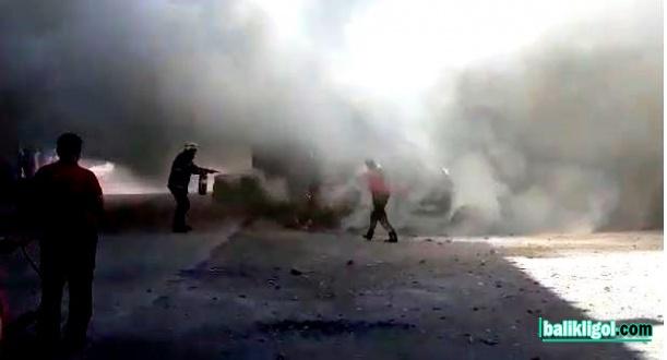 Şanlıurfa'da seyir halindeki otomobil yandı