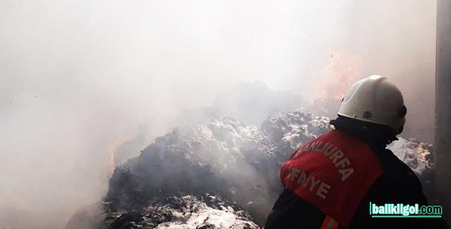 Siverek'te yangın, itfaiye kurtardı