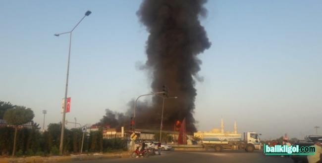 Urfa'da yangın! Dumanlar şehrin üzerini kapladı