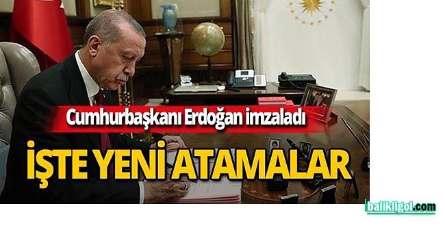 Erdoğan'dan yeni atamalar- 12 Eylül 2019