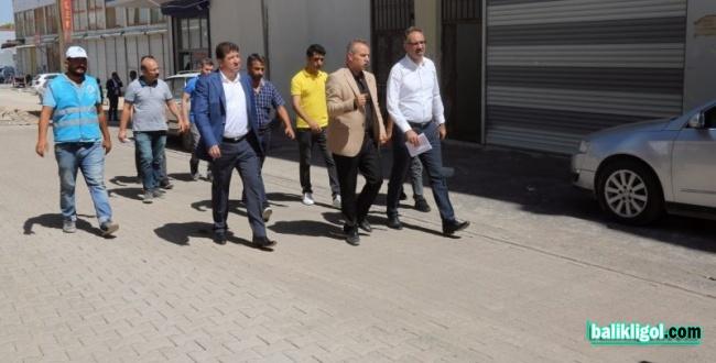 Eyyübiye Belediyesi kilitli parke taşı çalışmasını sürdürüyor
