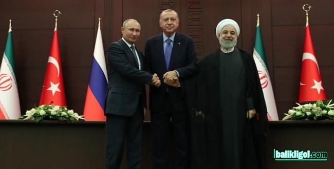 Suriye için Erdoğan, Runani ve Putin Ankara'da bir araya geldi