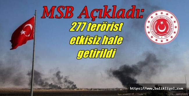 MSB'den Son Dakika Açıklaması: Sayı 277 Oldu