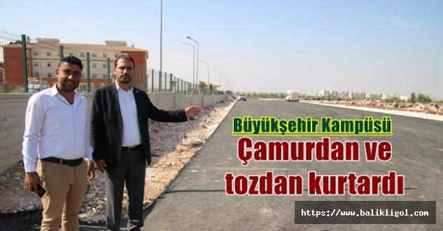 Viranşehir'de Okul Kampüs Yolunu Asfaltlandı