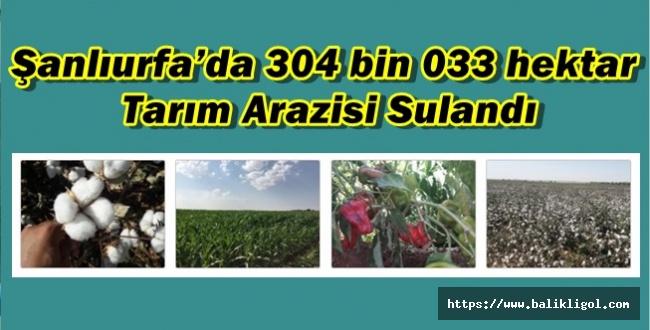 DSİ Açıkladı: Urfa'da Yüzbinlerce Hektar Arazi Sulandı