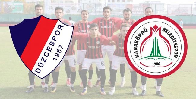 Düzcespor - Karbel Karaköprü Belediyespor 1 - 0