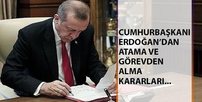Erdoğan'dan Flaş Atamalar ve Görevden Alma! Resmi Gazetede Yayınlandı