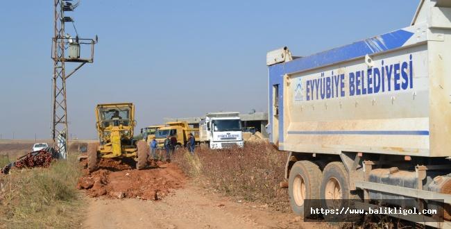 Kış Hazırlığına Başlayan Eyyübiye Belediyesi Kırsala Çıkarma Yaptı