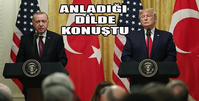 Turmp - Erdoğan görüşmesinde, Erdoğan adeta manifesto verdi
