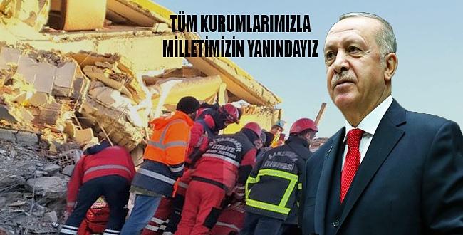 Erdoğan'dan Elazığ depremi açıklaması