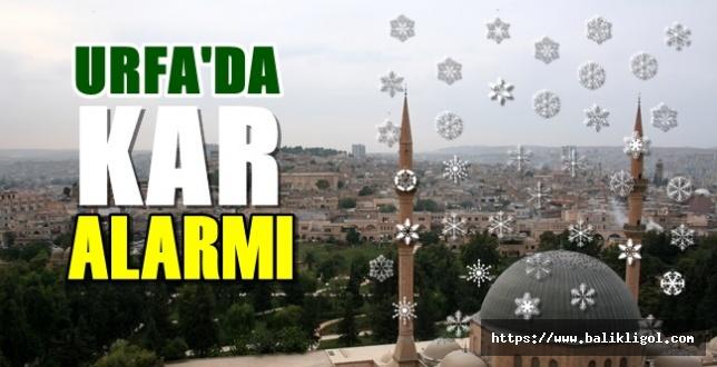 Belediyeler Harekete Geçti! Urfa!da Kar Alarmı!