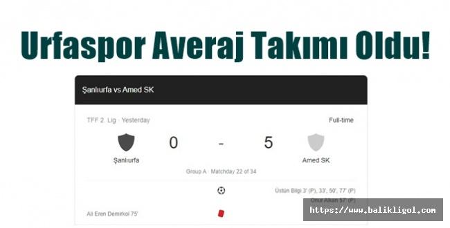 Urfaspor Averaj Takımı Oldu! 5-0 Yenildi