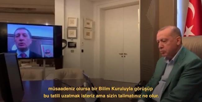 Bakan Selçuk, Cumhurbaşkanı Erdoğan'a okul tatilini sordu