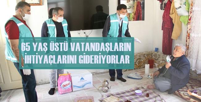 Eyyibiye'deki Yaşlıların İhtiyacını Belediye Ekipleri Karşılıyor